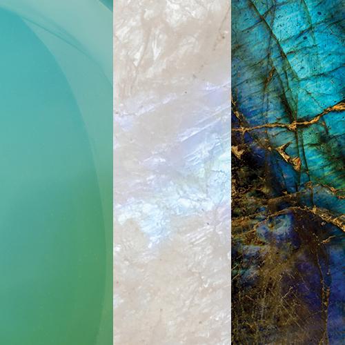Aqua Calci – Rainbow Moonstone – Labradorite