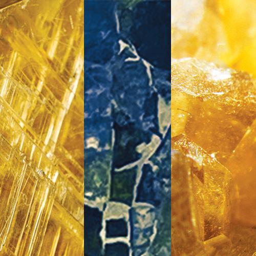 Citrine – Blue Tone Tourmaline Turquoise – Yellow Quartz