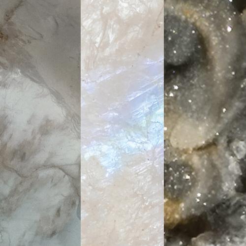 Grey Moonstone – Rainbow Moonstone – Desert Druzy