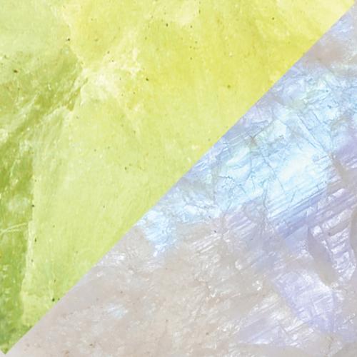 Prehnite – Rainbow Moonstone