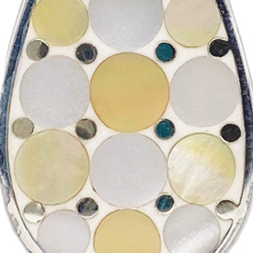 Yellow Mosaic Mother of Pearl